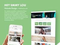 Heyemmylou website design