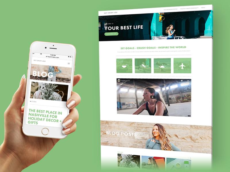 Hey Emmy Lou | Fitness & Nutrition Blog responsive layout web  design nutrition blog nutrition fitness blog fitness website design fitness blog