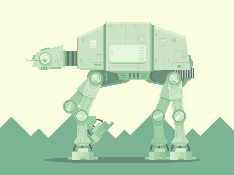 AT-AT pop culture movies sci fi vector at-st star wars illustration