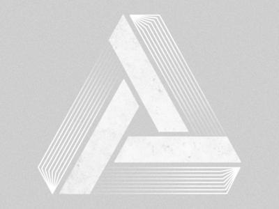 Blending lines in to Penrose Triangle shapes blending texture pattern digital art digitalart icon graphic design illustration
