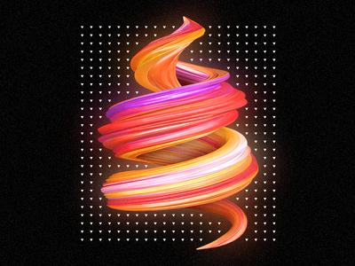 Helix digital illustration noise infinite ilustración illustrator illustration digital design c4d art abstract 3d