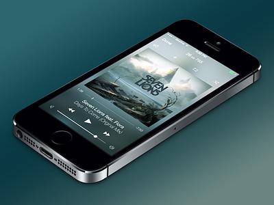 Blur Music Player flat app ui player vkontakte vk iphone ipad ios7 blur