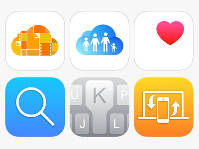 iOS 8 icons set wwdc ios8 iphone ipad icondesign icon apple icons