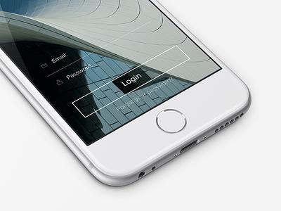 Login Screen ui ux iphone app login ios login screen