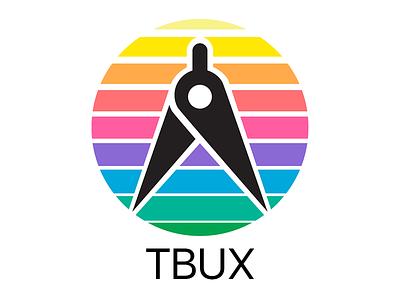 TBUX - UX Consultant Logo retro brand logo