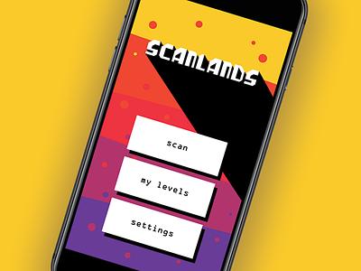 Scanlands UI design flat ui game