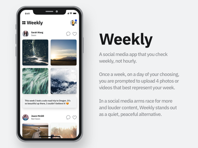 Weekly - App Concept ux apple iphone ui