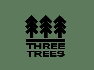 Three Trees icon branding typography illustration design brand logo