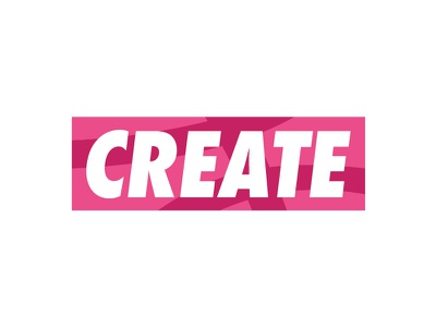 CREATE Sticker contest graphic design fairey shepard obey pink logo create stickermule sticker dribbble