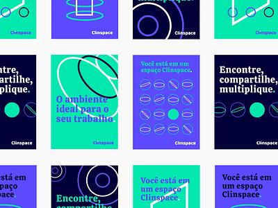 Clinspace medicine medical care medical app visual id vector poster start up logo start up healthy