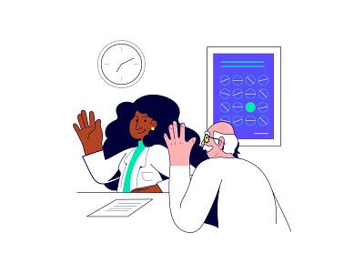 Clinspace doctor appointment medical logo medical care medical app vector art vector illustration doctor app doctor