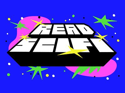 READ SCIFI type lettering art vector vector art illustration lettering scifi