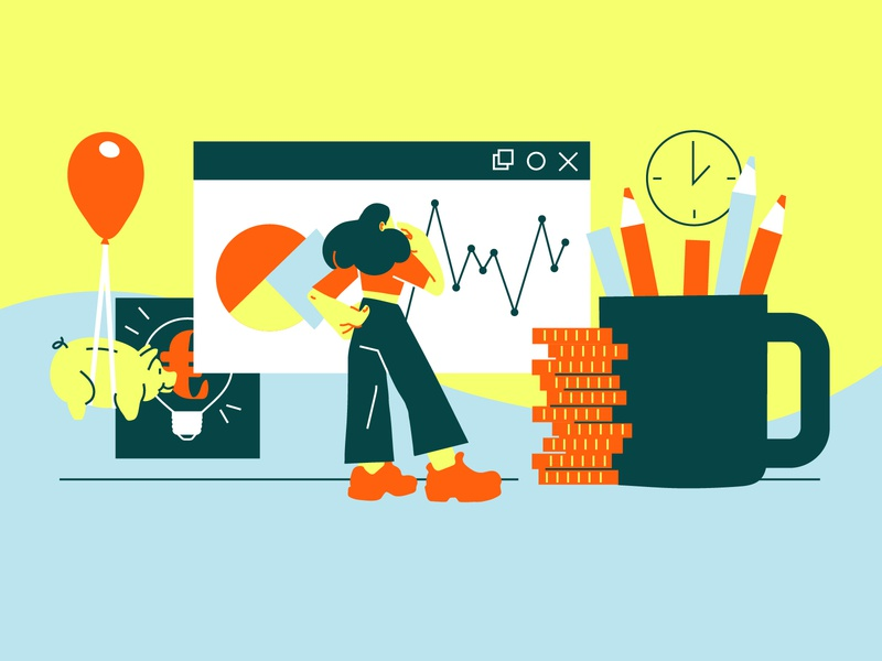 How to estimate your costs upon starting your business organization vector artwork drawing investiments vector art money business costs holvi illustration art vector illustration