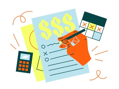 How to estimate your costs upon starting your business drawing money vector artwork vector art vector finances organization investiments costs holvi