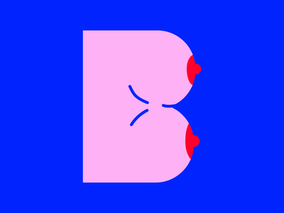 B initial initials boobs letter lettering art vector art type drawing letters for may vector lettering illustration