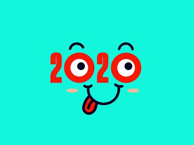 2020 faces smile face emoji lettering
