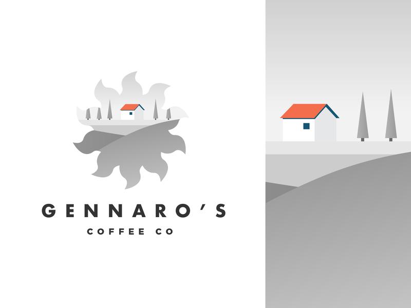 Logo concept for an Italian café