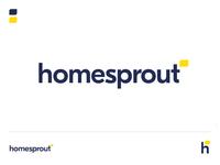 Homesprout Logo 1 home icon vector mark identity flat logo branding