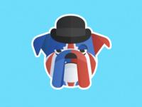 Union Jack English Bulldog