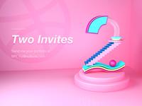 2 Dribbble Inviters