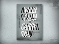 """Redesign """"Keep Calm and Carry On"""""""