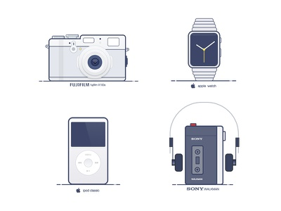 Classic ipod fujifilm watch walkman sony apple design industrial