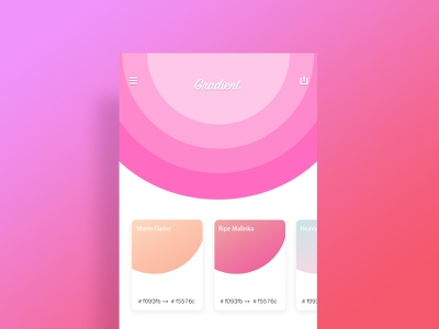 gradient ui ui,design gradient,pink app,color