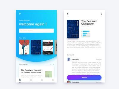 Books App app,books clean ui ux reading boos