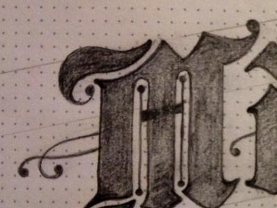 Mo hand drawing