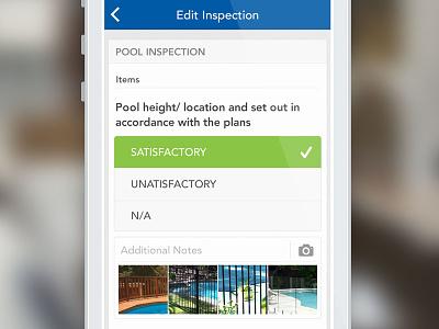 Buildaform Inspection inspection iphone form list ui mobile certification building calendar schedule checkbox image upload