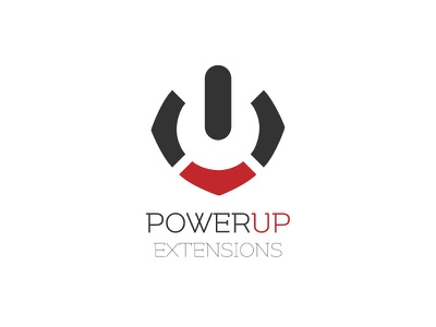Powerup Extensions Logo branding logo icon power up extensions software