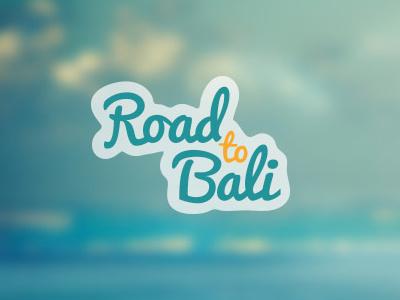 RoadtoBali Logo startup website driver booking bali logo travel