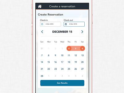Create Reservation Date Picker iphone picker dates flat calendar app ios mobile ui date picker