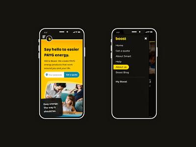 Boost Power UK website redesign energy ui mobile responsive website design website