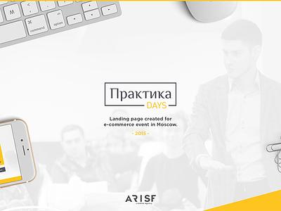 Arise Creative Agency   PraktikaDays showcase  landing web ui ux fe yellow flat animation behance