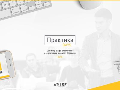 Arise Creative Agency | PraktikaDays showcase  landing web ui ux fe yellow flat animation behance