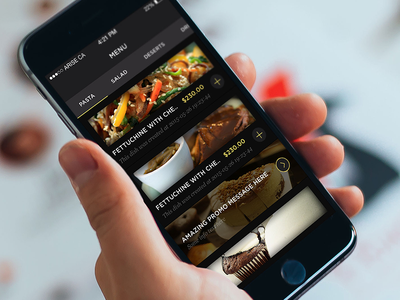 Arise Creative Agency   iOS App banner promo add food checkout order delivery app ios menu