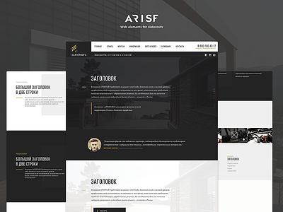 UI kit for Slateroofs navigation menu header kit psd ux ui promo landing responsive web