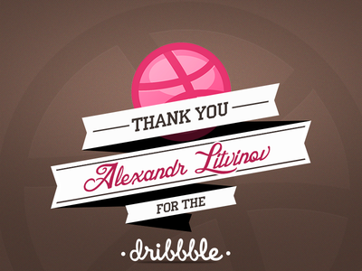 Thanks for the Dribbble!