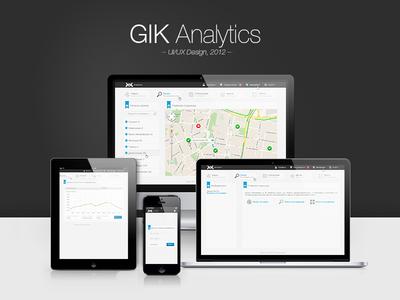 GIK Analytics - UI/UX Design by Farid Sagiev