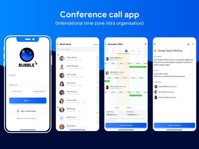 Conference call app ui design challenge contacts organization call calls uiux schedule app scheduling meeting app calendar meetings conference call ui desgin user experience