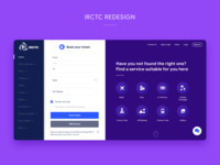 IRCTC Homepage Redesign