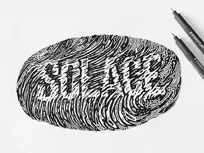 Solace distorted type typography sketch micron hand drawn type type lettering
