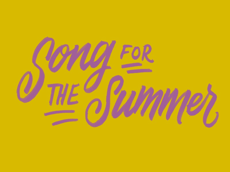 Song For The Summer hand lettering yellow lyrics stereophonics lettering type