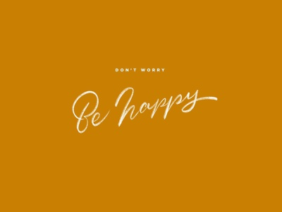 Don't Worry Be Happy brush pen ipad procreate hand drawn type good type sketch font typography hand lettering type lettering happy worry