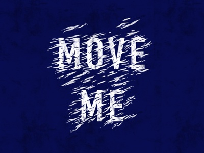Move Me - Lettering sound waves movement move move me music hozier procreate lyrics hand drawn type good type font sketch typography hand lettering type lettering