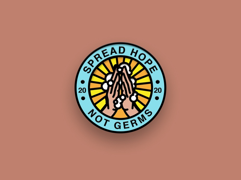 Spread Hope Not Germs Pin
