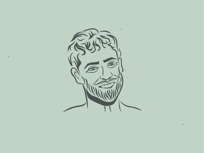 My Man's Portrait work in progress lineart illustration portrait