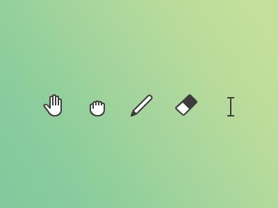 Custom cursors cursors icons hand grab move pen pencil eraser text