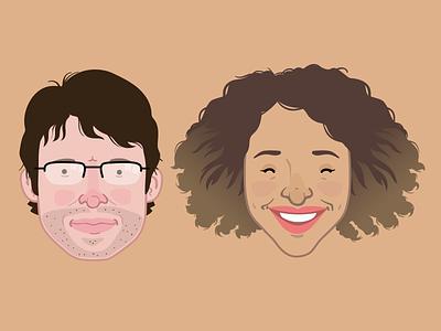 Avatars vector portraits illustration avatar